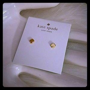 Kate spade mini spade stud earrings
